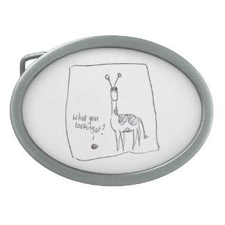 giraffe and vole belt buckle