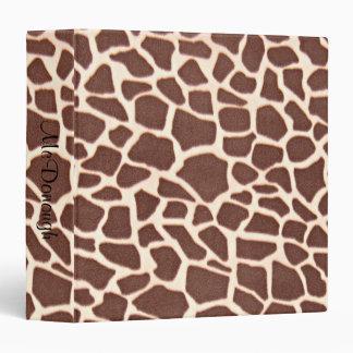 Giraffe Animal Pattern Print Binders