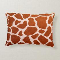 Giraffe Animal Print Accent Pillow