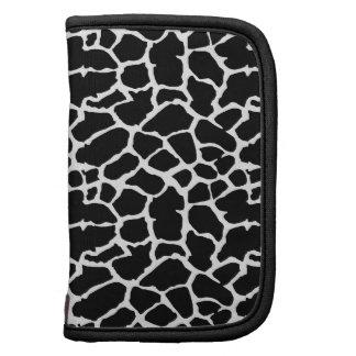 Giraffe Animal Print Black And White Design Folio Planner
