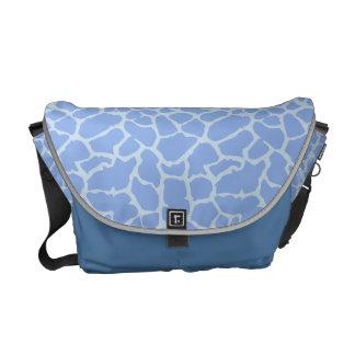 Giraffe Animal Print Light Blue Design Courier Bags