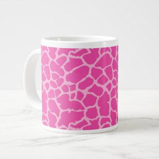 Giraffe Animal Print Pink Magenta Design Large Coffee Mug