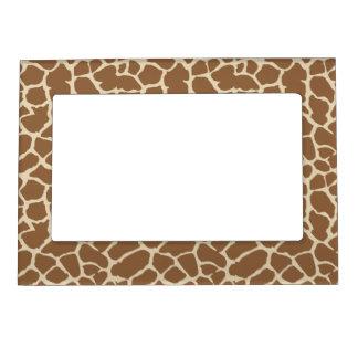 Giraffe Animal Print Tan Brown Design Magnetic Frame