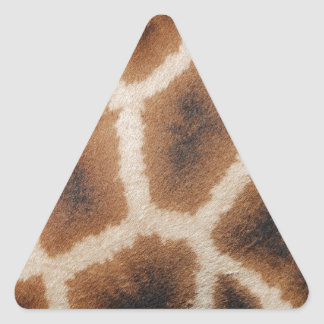 Giraffe Animal Print Triangle Sticker