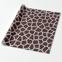 Giraffe animal print wrapping paper