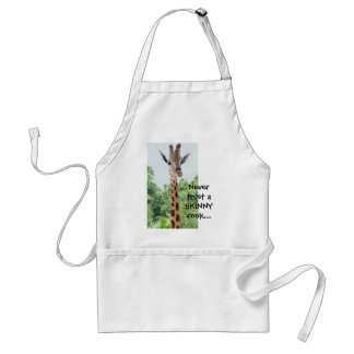 Giraffe Apron: Never Trust a skinny cook... Adult Apron