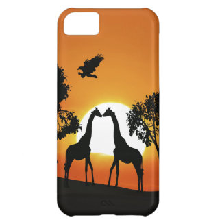 Giraffe at sunset iPhone 5C covers