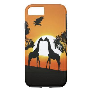 Giraffe at sunset iPhone 7 case
