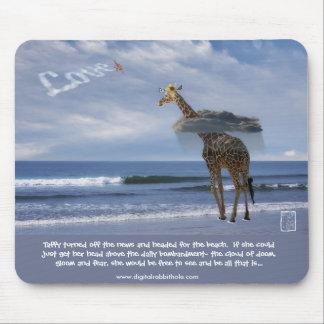 Giraffe at the Beach Mouse Pad