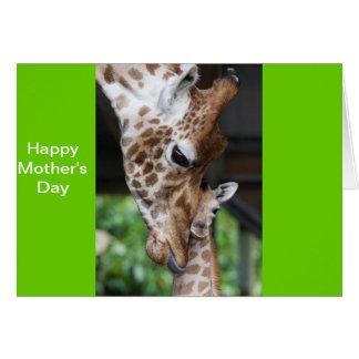 Giraffe & Babe Greeting Card