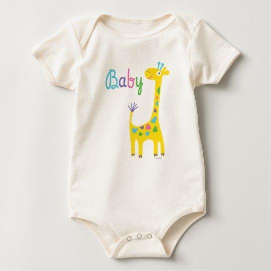 Giraffe & Baby by Andi Bird Baby Bodysuit