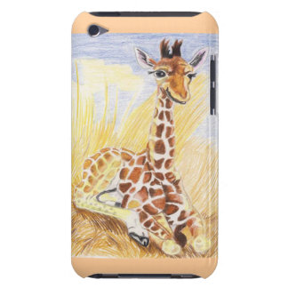 Giraffe Baby In The Grass iPod Touch Covers