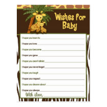 Giraffe Baby & Mommy Wishes for Baby Advice Cards