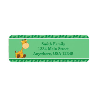 Giraffe | Baby Safari Animals | Personalized Label