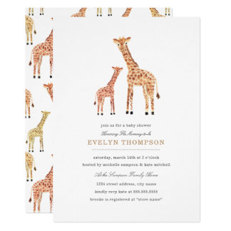 Giraffe Baby Shower Card