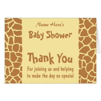 Giraffe Baby Shower Stationery Note Card