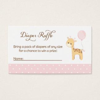 Giraffe Baby Shower Diaper Raffle Tickets