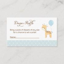Giraffe Baby Shower Diaper Raffle Tickets Enclosure Card