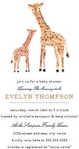 Giraffe baby shower invitations zazzle giraffe baby shower invitation filmwisefo