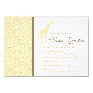 "Giraffe Baby Shower Invitation 5"" X 7"" Invitation Card"