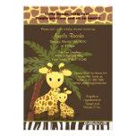 Giraffe Baby Shower Invitation Safari Jungle Mommy