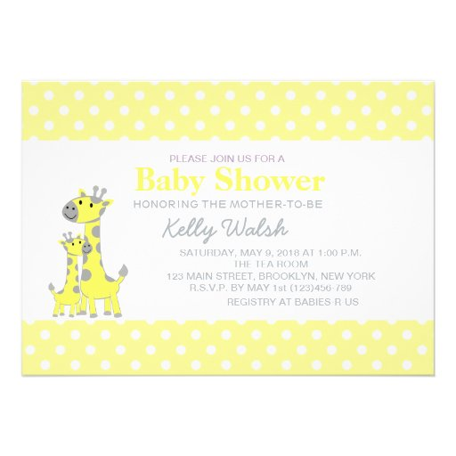 Yellow And Gray Baby Shower Invitations for your inspiration to make invitation template look beautiful