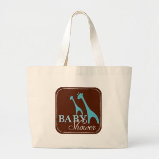 Giraffe Baby Shower Large Tote Bag