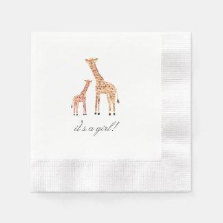Giraffe Baby Shower Paper Napkin