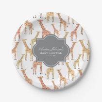 Giraffe Baby Shower Paper Plate