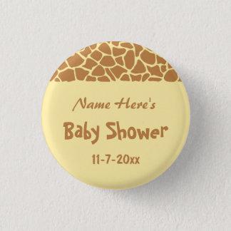 Giraffe Baby Shower Pinback Button