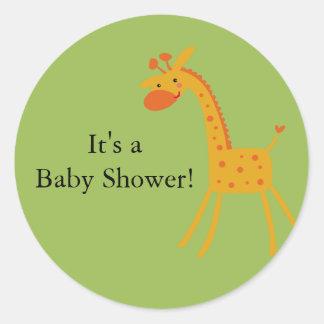 Giraffe Baby Shower Sticker