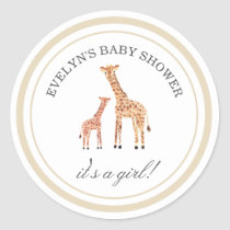 Giraffe Baby Shower Stickers