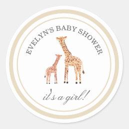 Giraffe Baby Shower Stickers