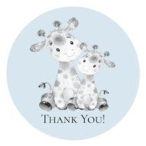 Giraffe Baby Shower Thank You Favor Sticker