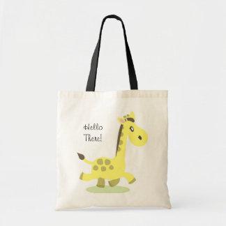 Giraffe Bag, Hello There! Budget Tote Bag