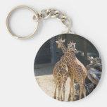 Giraffe Basic Round Button Keychain