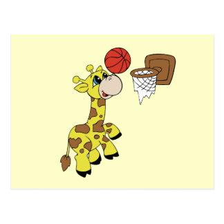 Giraffe Basketball T-shirts and Gifts Postcard