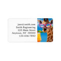 Giraffe beach - funny giraffe label