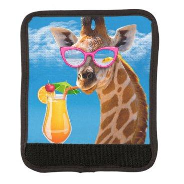 Beach Themed Giraffe beach - funny giraffe luggage handle wrap