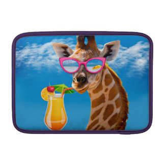 Giraffe beach - funny giraffe MacBook air sleeve