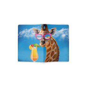 Beach Themed Giraffe beach - funny giraffe passport holder