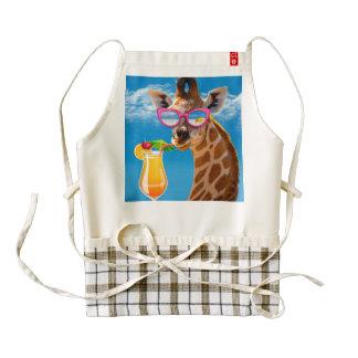 Giraffe beach - funny giraffe zazzle HEART apron