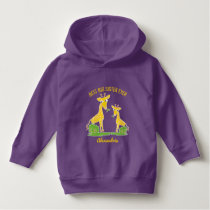 Giraffe Best Big Sister Ever Girls Personalized Hoodie