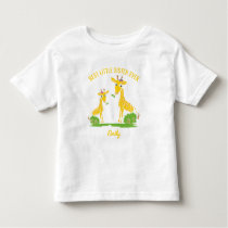 Giraffe Best Little Sister Ever Girls Personalized Toddler T-shirt