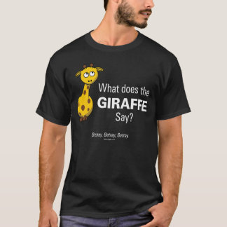 Giraffe Betray Men's Basic Black T-Shirt