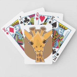 Giraffe Bicycle Playing Cards