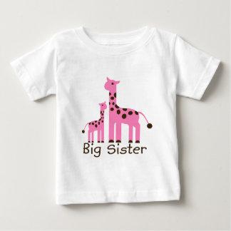 Giraffe Big Sister Baby T-Shirt