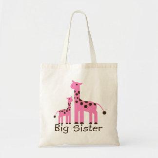 Giraffe Big Sister Canvas Bags