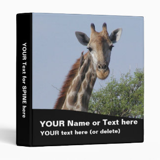 "Giraffe Binder 1"" (customize text & pictures)"