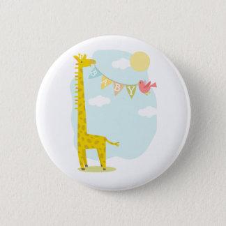 Giraffe + Bird Baby Shower Button